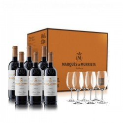 PACK MARQUÈS DE MURRIETA RESERVA 2013 6 BOTELLAS + 6 COPAS
