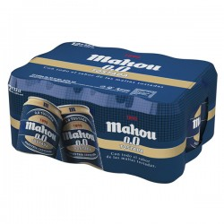 MAHOU 0,0 TOSTADA BEER CAN 33 CL. (PACK 12 UD.)