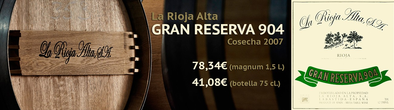 Buy La Rioja Alta Gran Reserva 904 Vintage 2007 at the best price.