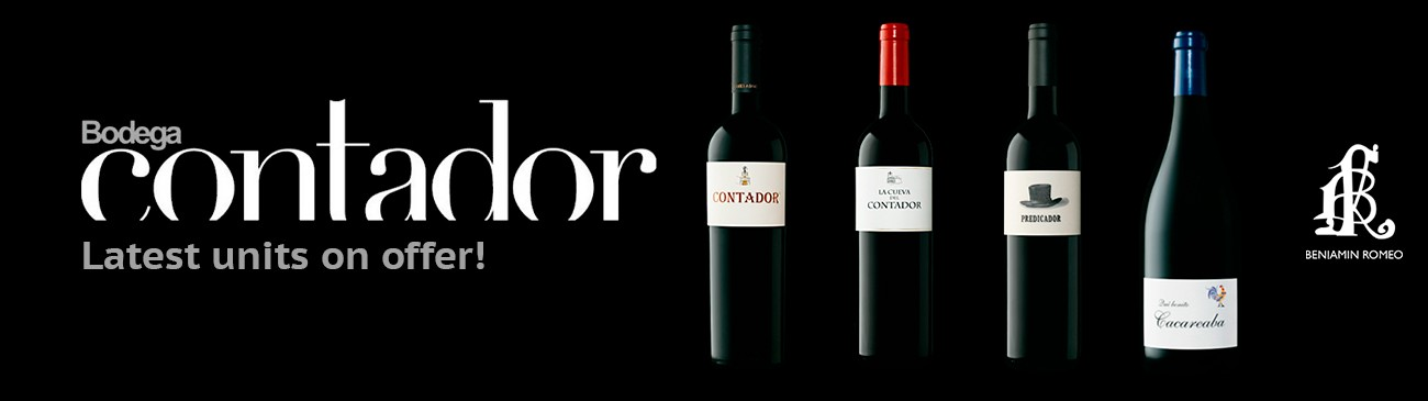 Bodega Contador's wines on offer